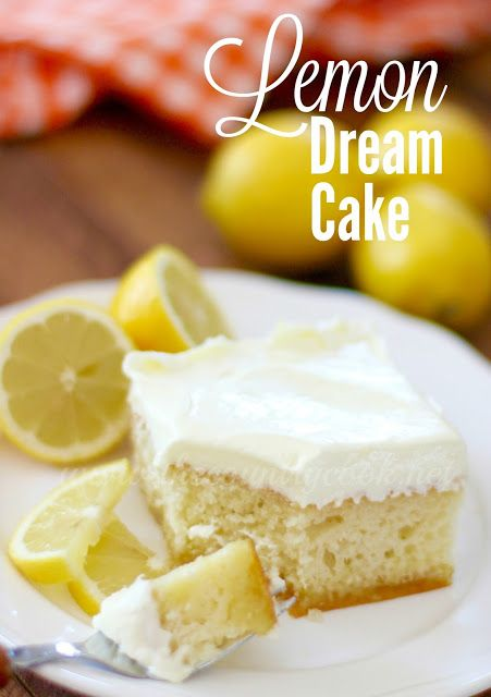 Lemon Dream Cake - Made with a cake mix & Lemon Pie Filling, EASY!  TheCountryCook.com