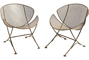 Mid-century Iron Chairs