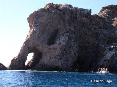 sloní skalní útvar, Berlenga Island, Silver pobřeží, Portugalsko   výlet lodí kolem ostrova je fantastický zážitek
