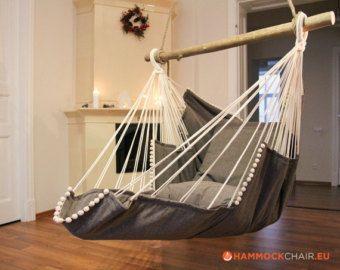 Hammock chair (brown / beige)  – Garten