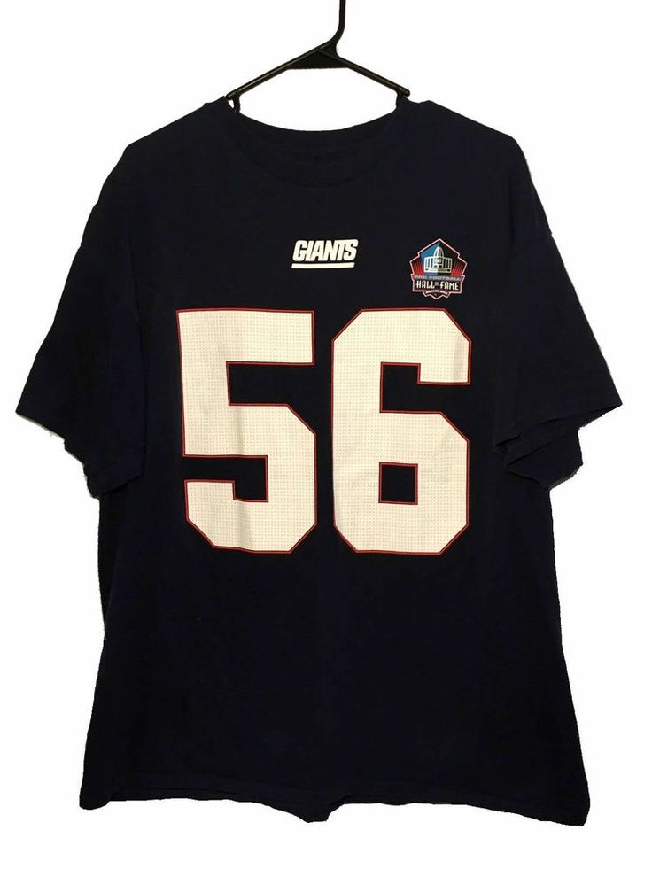 Lawrence Taylor New York Giants Majestic Mens Jersey T-Shirt XL Hall of Fame  #Majestic #NewYorkGiants