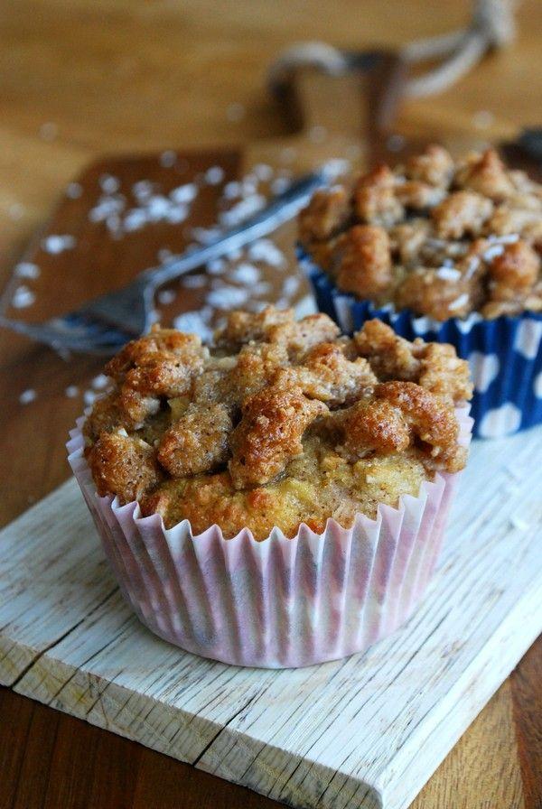 Päronmuffins med kanelsmul //Baka Sockerfritt