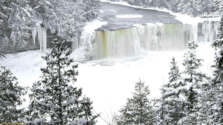 niagara falls frozen wallpaper hd