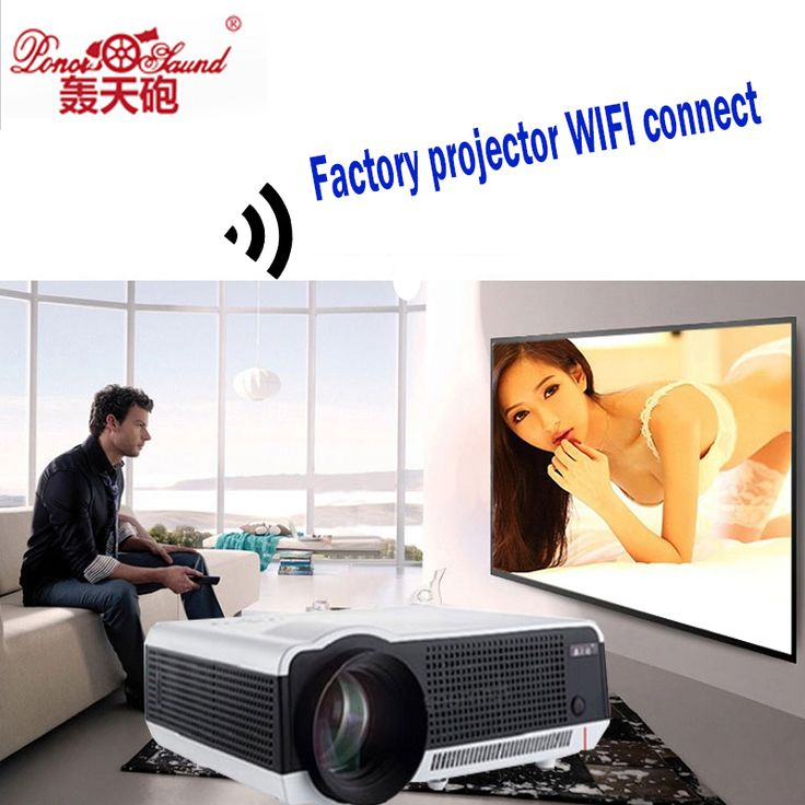 Android 4.4.2 Full HD LED Daytime LCD 3D Wifi Smart Projector 5500lumens proyector Beamer LED-86Wifi Lamp business cinema White