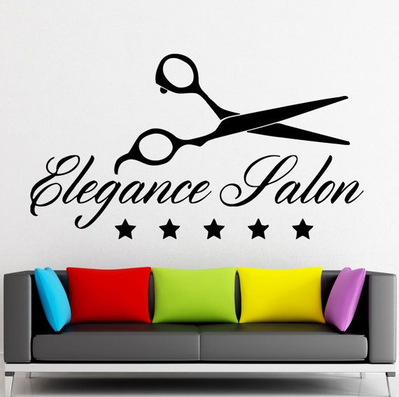 Wall Sticker Vinyl Decal Elegance Salon Beauty by Wallstickers4you