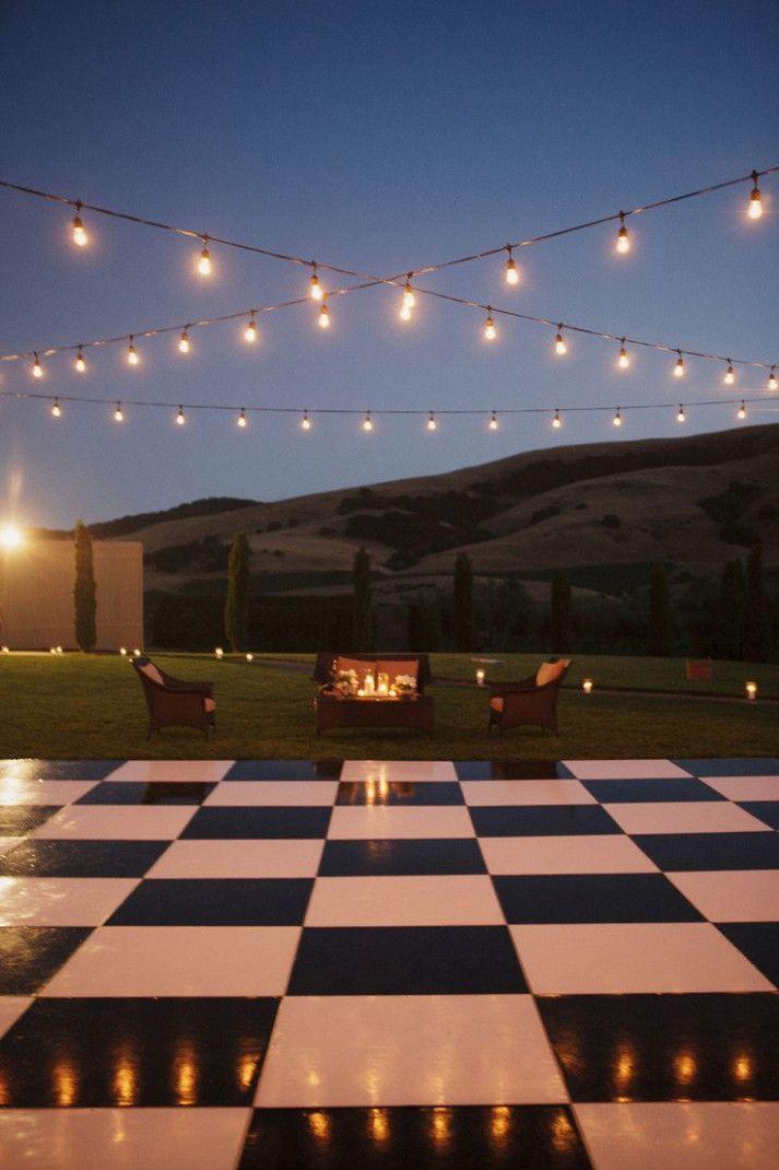 Backyard Wedding Lighting Dance Floors