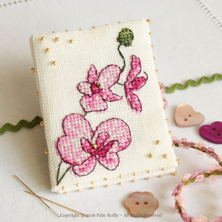 Plum Orchid Needlebook - Faby Reilly Designs