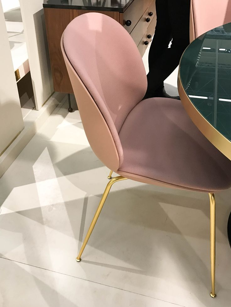 Beetle Chair, plastic shell and front upholstery by GamFratesi for Gubi