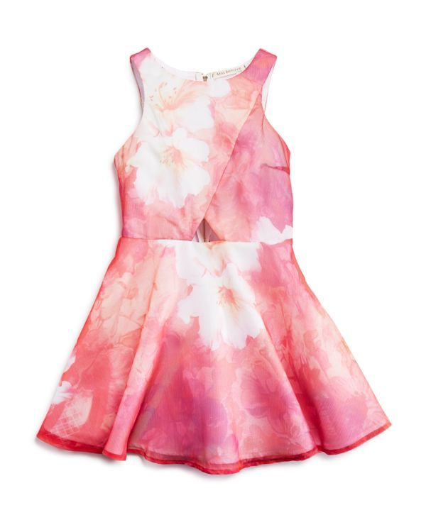 Miss Behave Girls' Abstract Floral Print Dress - Sizes S-xl