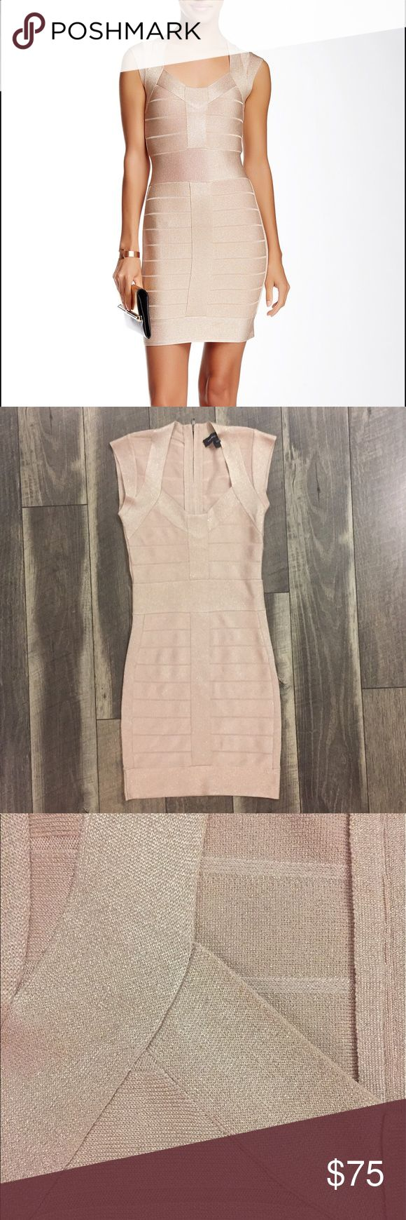 French Connection Bodycon Dress Beautiful soft rose gold bodycon dress - worn once - perfect condition - extremely flattering! French Connection Dresses Mini