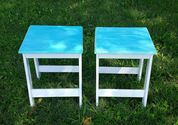 Distressed end tables End tables Accent by ThreeLeafsWoodworks