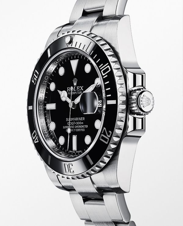 The Rolex Submariner Date in 904L steel with a rotatable graduated black ceramic bezel, black dial and Oyster bracelet.