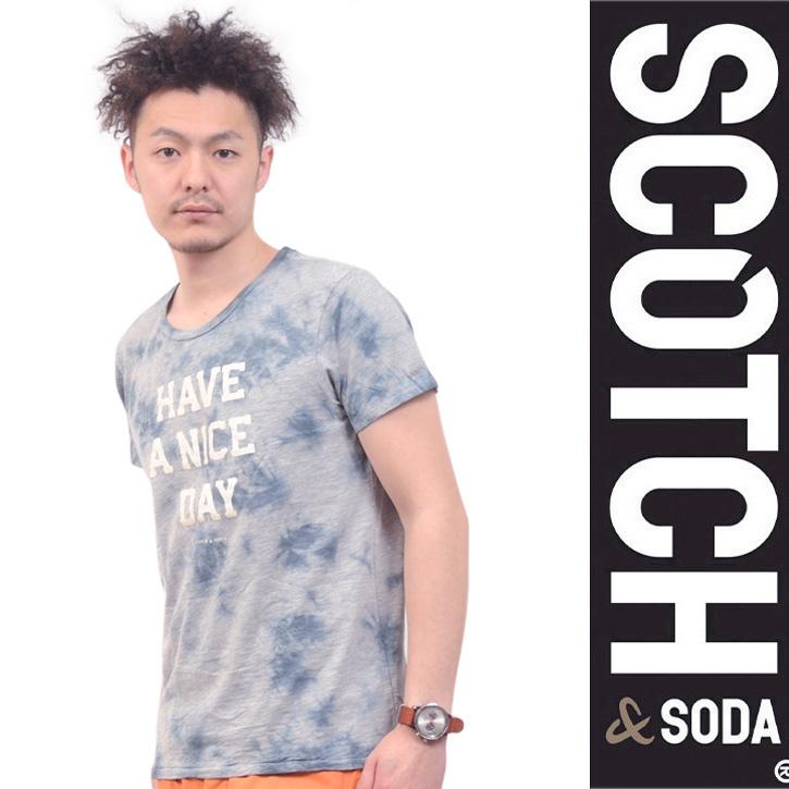 SCOTCH(スコッチアンドソーダ) Tシャツ ネイビー HAVE A NICE DAY SC51143-31 Col.970 ts-sc-139
