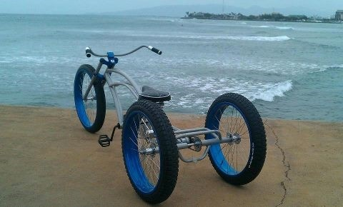 Cruiser Bikes With Fat Tires Fat tire tricycle beach