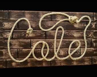 Photo Prop Western Rope Name Sign Cowboy Theme by RopeAndStyle