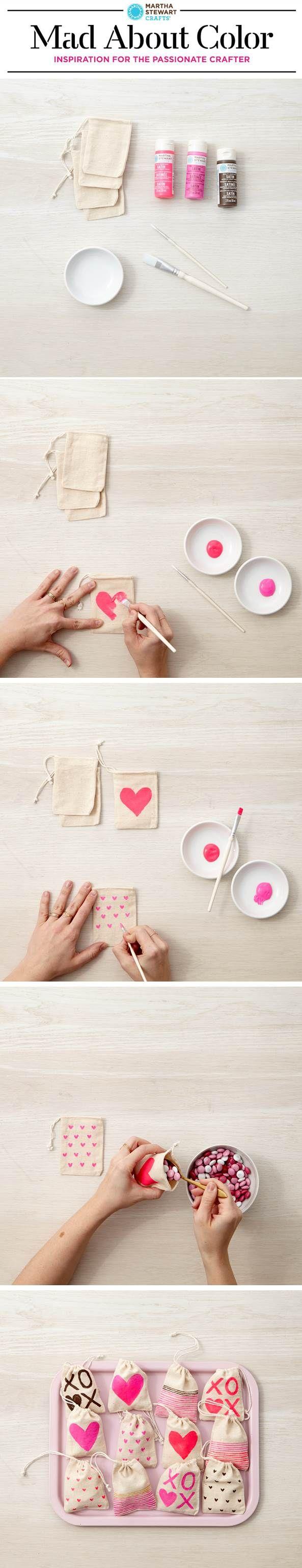 DIY Valentine's Day Treat Bags from #marthastewartcrafts