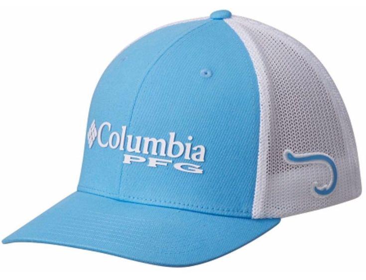 Columbia Sportswear Men's PFG Mesh Ball Cap Vivid Blue Fitted Hat NWT  #Columbia #BaseballCap