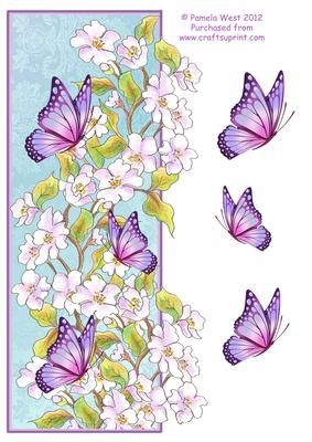 DL Over the Edge Apple blossom Butterflies on Craftsuprint - Add To Basket!