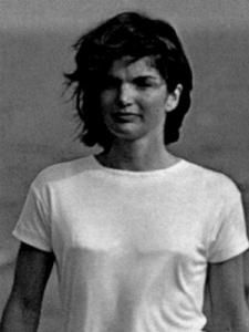 """Jacqueline Lee """"Jackie"""" Bouvier, later """"Kennedy"""" and """"Onassis"""" July 28, 1929—May 19, 1994), aged 64,was the wife of the 35th President of the United States, John F. Kennedy, and First Lady of the United States during his presidency from 1961 until his assassination in 1963. Five years later she married Greek shipping magnate Aristotle Onassis; they remained married until his death in 1975."""