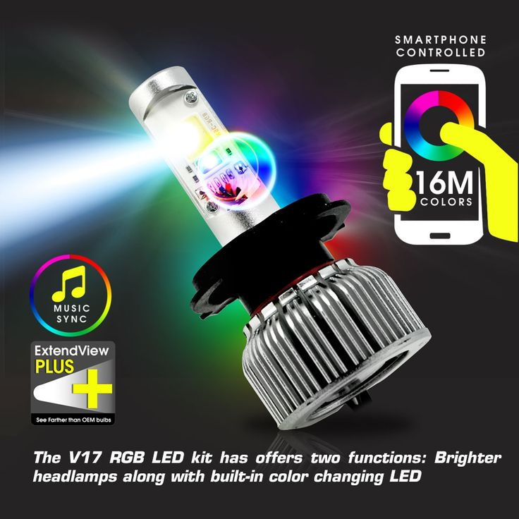 V17 2-in-1 LED Conversion Kit and RGB Headlight Accent