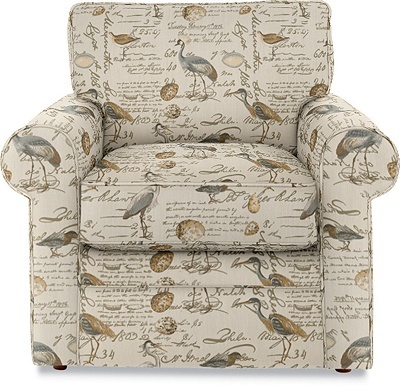 Collins Premier Stationary Chair by La-Z-Boy in Greenhouse Fabric A3220 Seamist