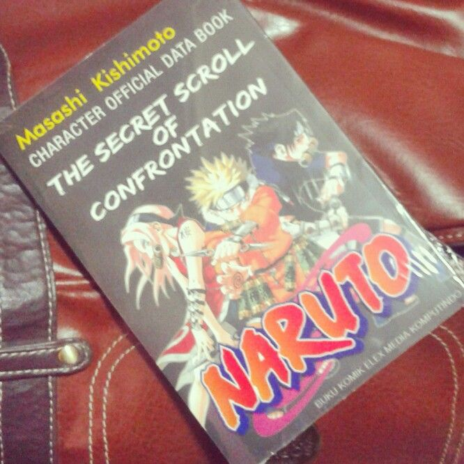 Komik Naruto.  Character Official Data Book The Secret Scroll Of Confrontation Naruto by Masashi Kishimoto