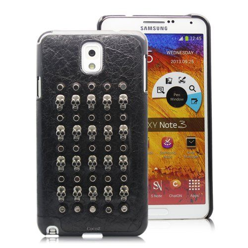 Cocoz® New Releases Samsung Galaxy Note 3 Case Metal Rivets Punk Style Skull Fashion Design Pu+velvet Hard --P006 Promo - http://mydailypromo.com/cocoz-new-releases-samsung-galaxy-note-3-case-metal-rivets-punk-style-skull-fashion-design-puvelvet-hard-p006-promo.html