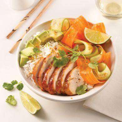 Poke bowl au poulet caramélisé - Recettes - Cuisine et nutrition - Pratico Pratique