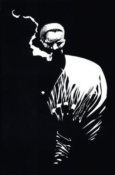Marv smokes - frank miller