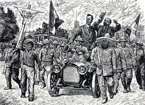 "Leopoldo Mendez - ""entrada de Francisco Madero"""