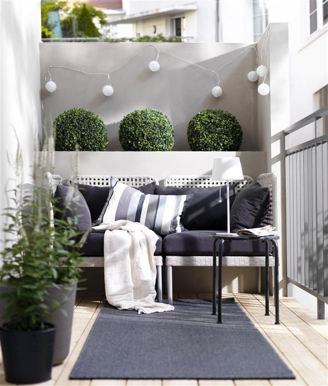 Enholmen outdoor furniture home pinterest outdoor furniture blue and white and outdoor - Balcony design for small spaces pict ...