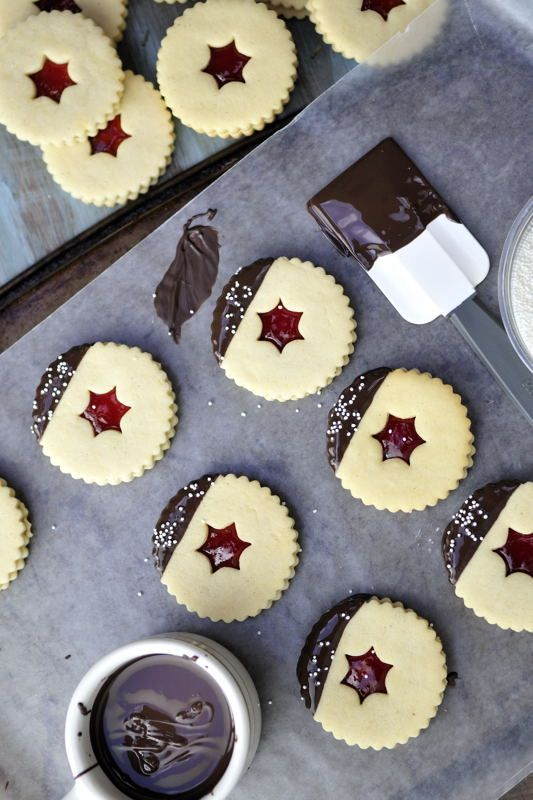 Linzer Cookies- made these tonight. Here's hoping they taste as good ...