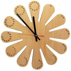 wood clock patterns | Long Simple Clock