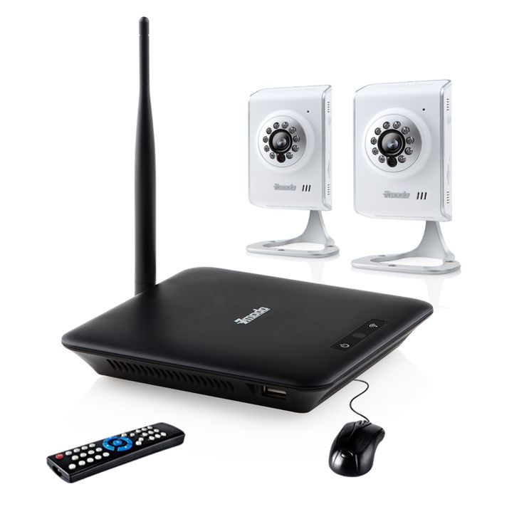 Elite Mini NVR System with 2 Wireless IP Camera & 500GB ...
