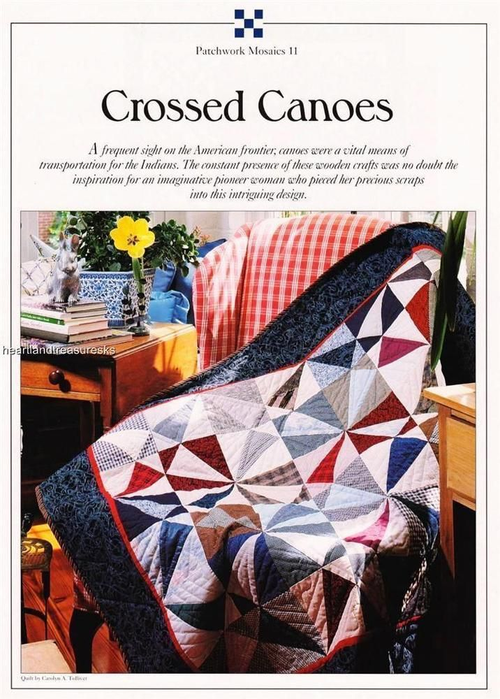 Crossed Canoes Best Loved Quilt Pattern w Flexible Templates | eBay