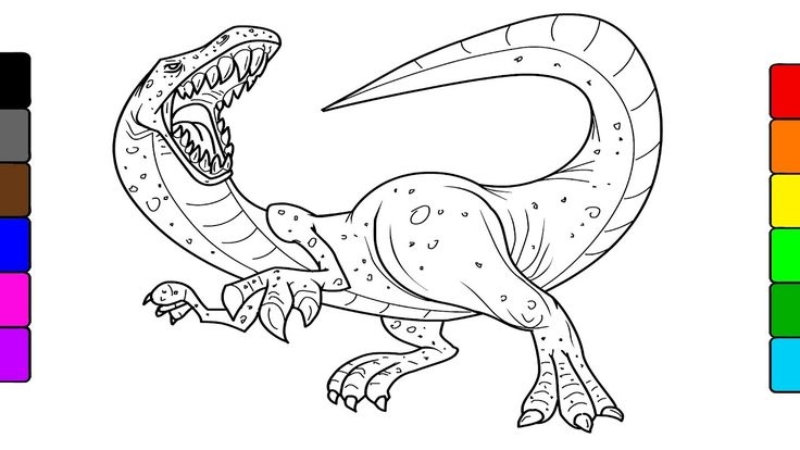 How to draw dinosaurs,  learn colors for kids with fun coloring videos  ...