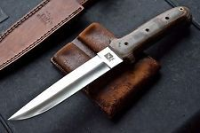 CFK IPAK Custom Handmade D2 Hybrid-Trench-Dagger Combat Tactical Fighting Knife