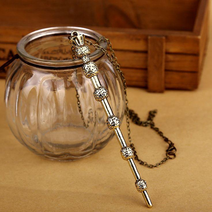 Гарри Поттер Гермиона Грейнджер Старший Палочка Дары смерти волшебная палочка ожерелье старинных воротник сеть женщины женский