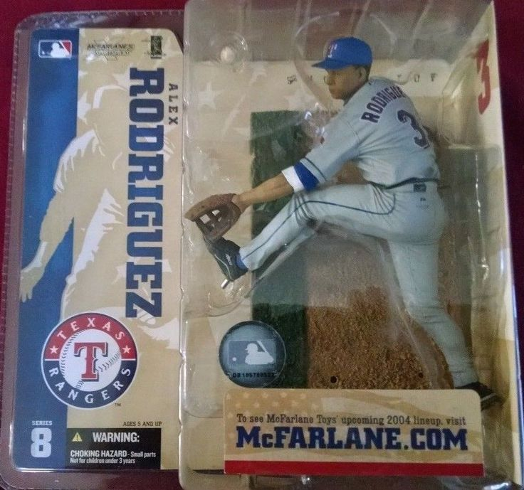 2004 McFarlane Baseball MLB Series 8 Alex Rodriguez Gray Variant #51 #McFarlaneToys