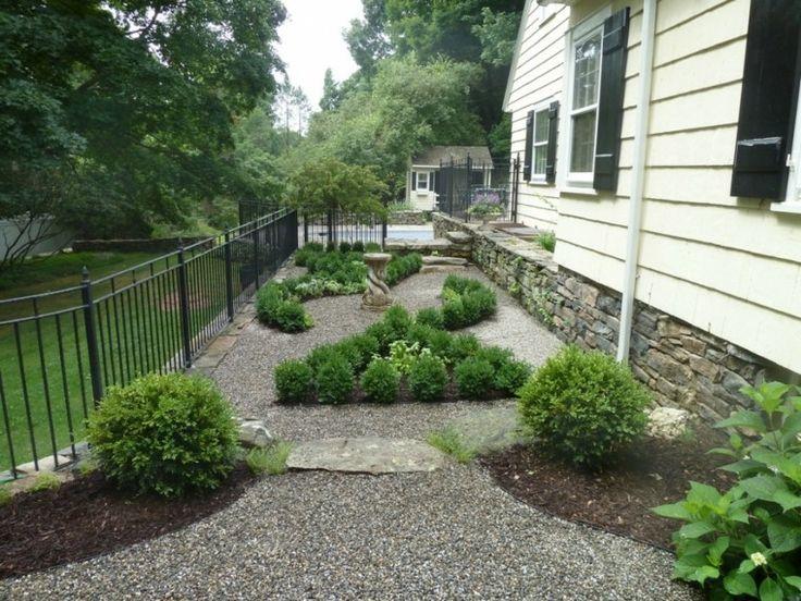 Jardines decorados con rocas y grava jard n pinterest - Jardines con grava ...