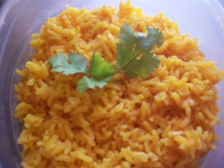 Easy prep recipe for savory rice using Sazon Goya con Azafran.    This recipe will work with Latin, Indian, and other cuisines.