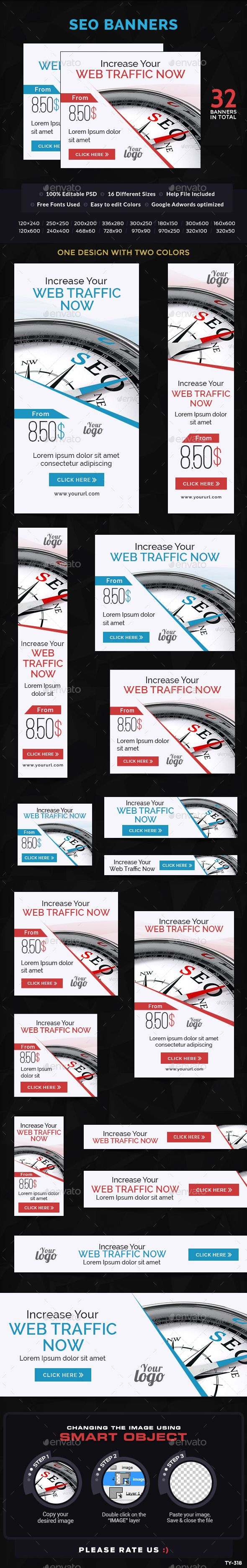 SEO Banners | Download: http://graphicriver.net/item/seo-banners/10457145?ref=ksioks