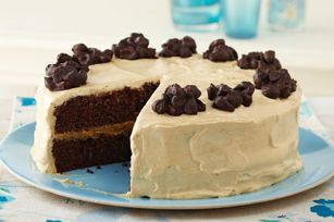 Chocolate Cluster-Peanut Butter Cake recipe    #kraftrecipes