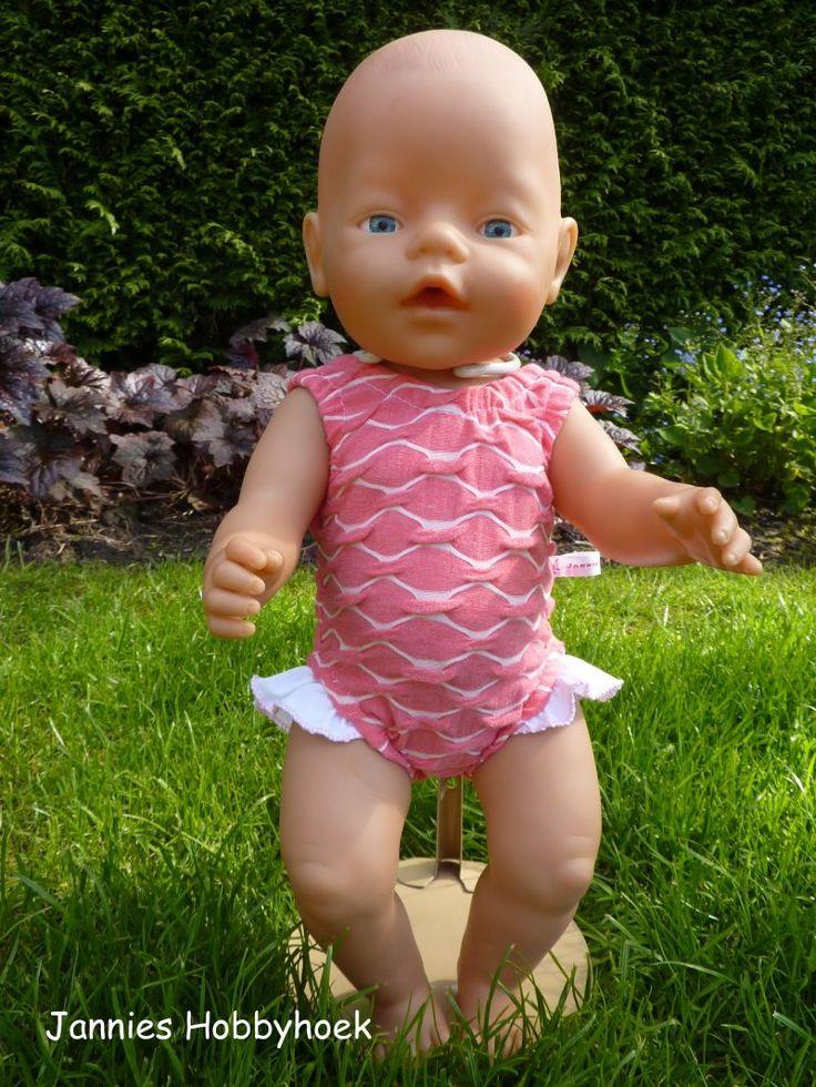 Badpak BabyBorn 43cm, patroon Christel Dekker