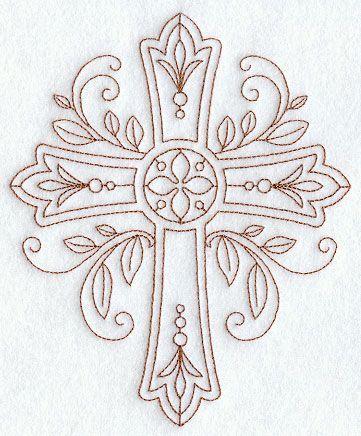 Ornate Cross (Redwork)...