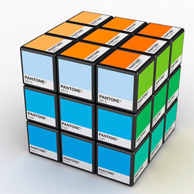 Pantone Rubiks Cube :-) what an awesome gift!!!