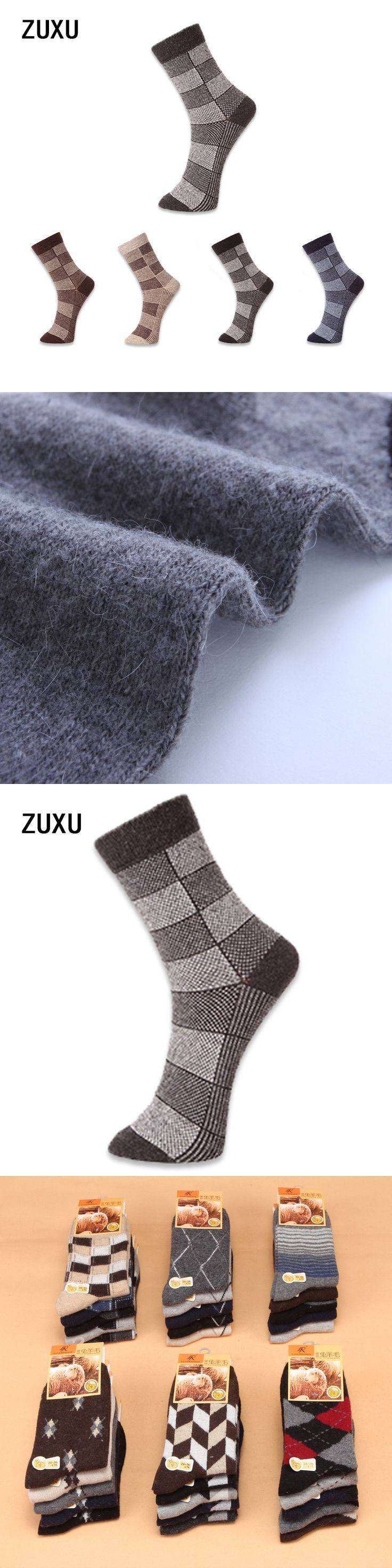 5 pairs/lot High Quality Men's Wool Socks Winter Cashmere Socks Winter Thickening Thermal Socks