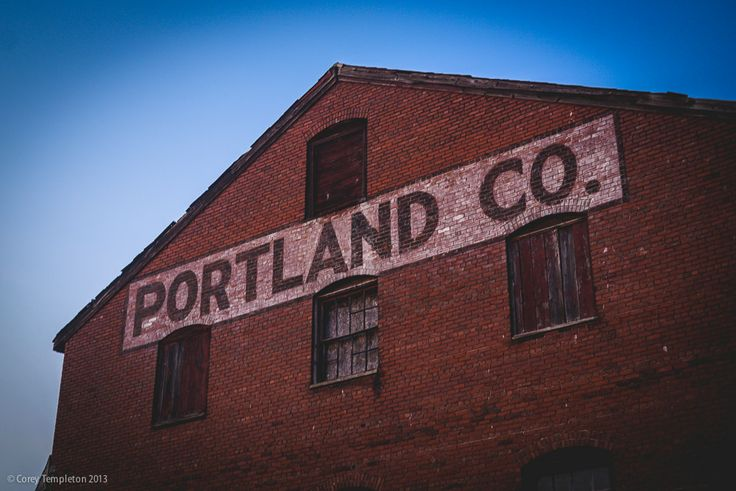 Portland Co hand-painted signage.
