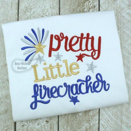 Pretty little firecracker embroidery design - Beau Mitchell Boutique