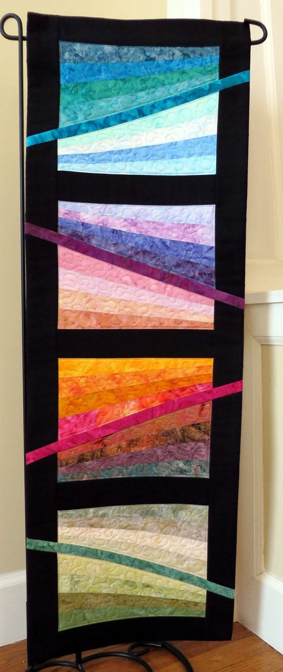 Handcrafted Quilted Wall Hanging Table by Quiltsbysuewaldrep, $80.00